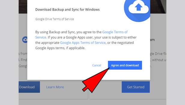 backup photos from google drive