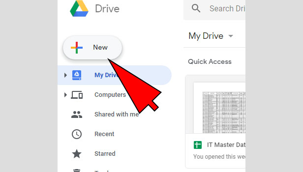 create folder in google drive