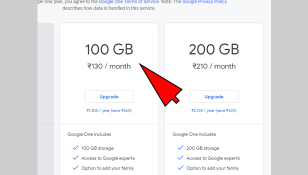 increase google drive storage