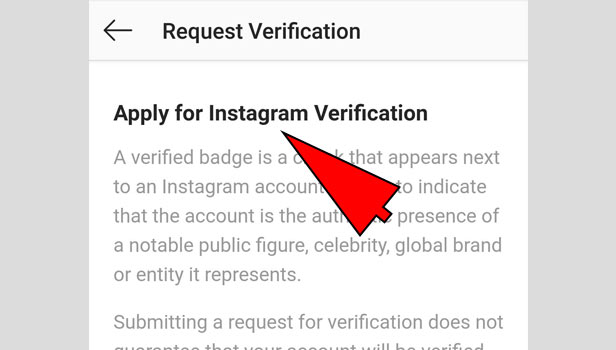 verify instagram account