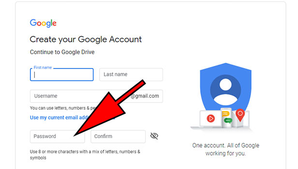 create Google drive account