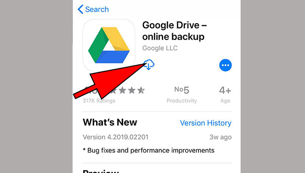 install google drive on iPhone