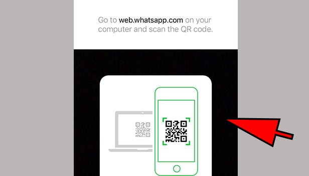 QR code on whatsApp