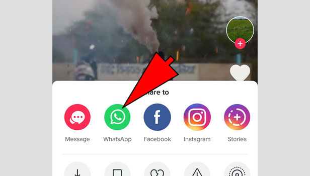 share tiktok video on WhatsApp
