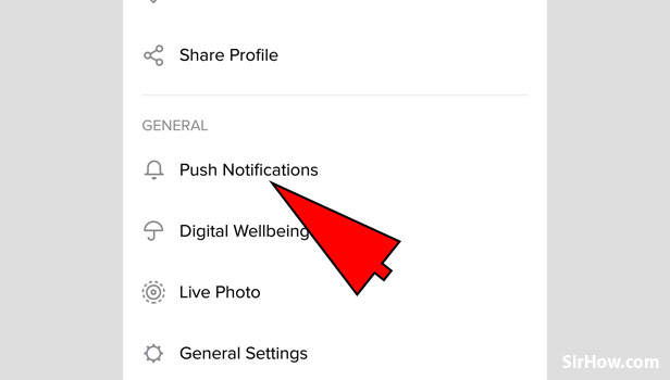 Enable or Disable Push Notifications