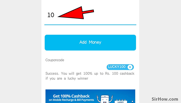 Recharge your paytm