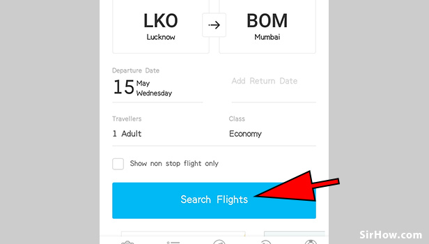 Book flight ticket using paytm app