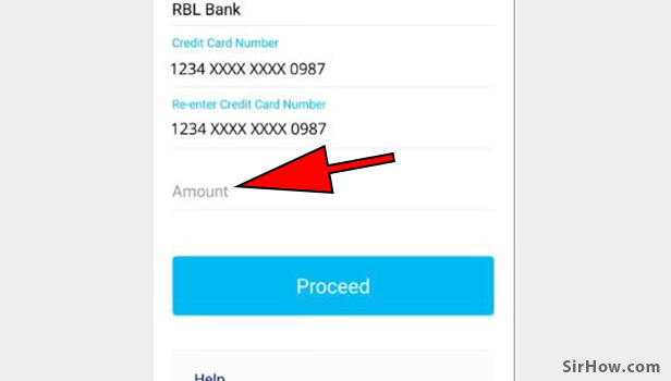 Pay credit card bill thorugh paytm app