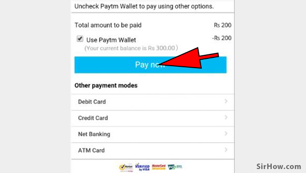 Recharge your mobile number using paytm app