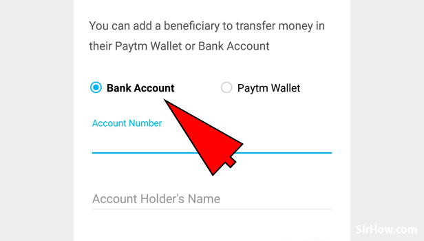 Add beneficiary in Paytm