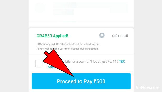 Add promo code in Paytm