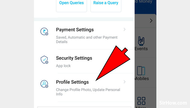 Change profile picture on Paytm App