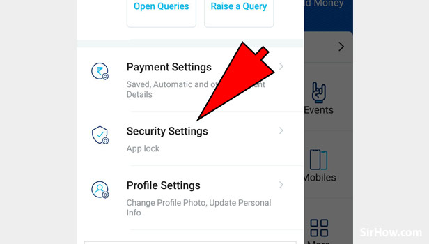 Check for Security Setting on Paytm App