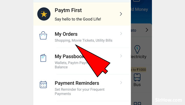 Check Paytm recharge history