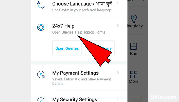 Contact Paytm for help on Paytm App