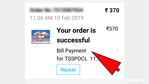 Get receipt of electricity bill payment on Paytm