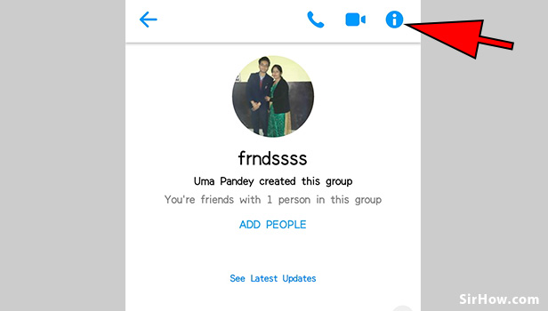 Leave group on messenger