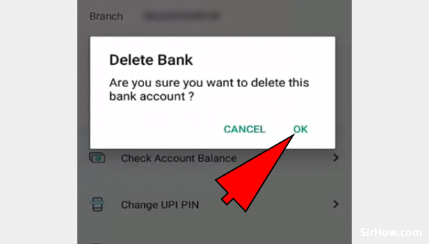 Remove bank account from Paytm