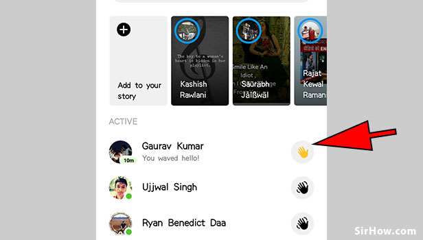 Wave to anyone on messenger