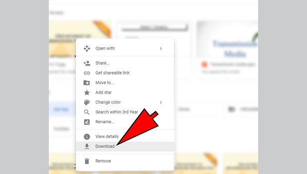 download from Google drive