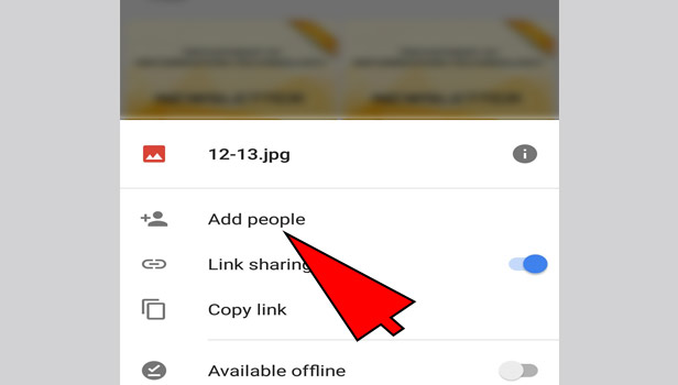 share files on google drive