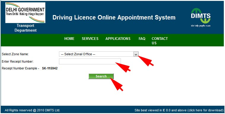 select zone - track driving licence