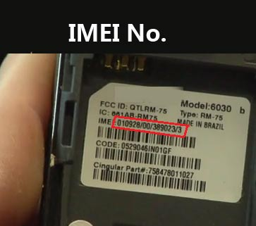 IMEI_number under battery