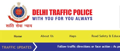 delhi traffic police website