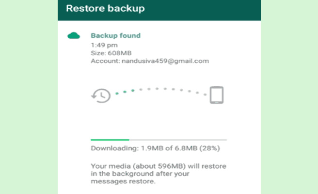 whatsapp backup restore-android