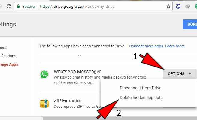 how to delete whatsapp backup