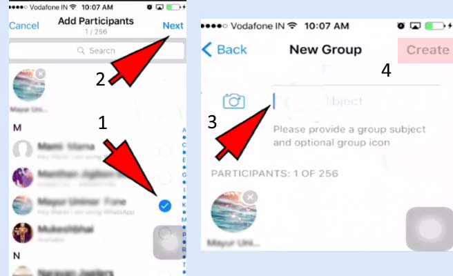How to create a group on WhatsApp-iphone