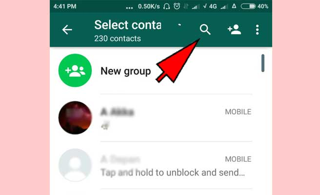 How to find someone on Whatsapp