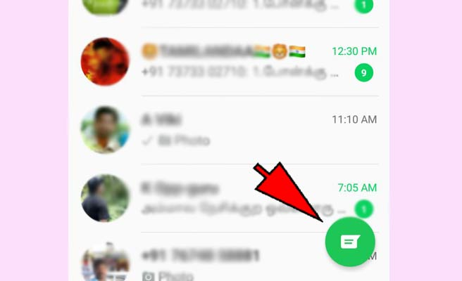 how to add someone on whatsapp-steps-1
