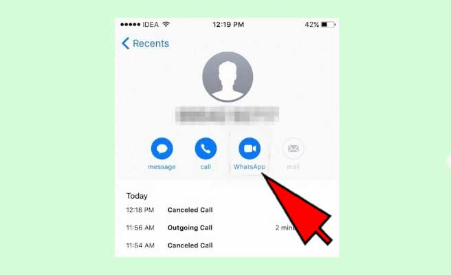 send whatsapp message without adding contact-iphone