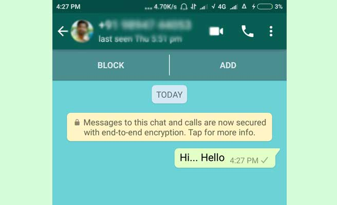 send whatsapp message without adding contact