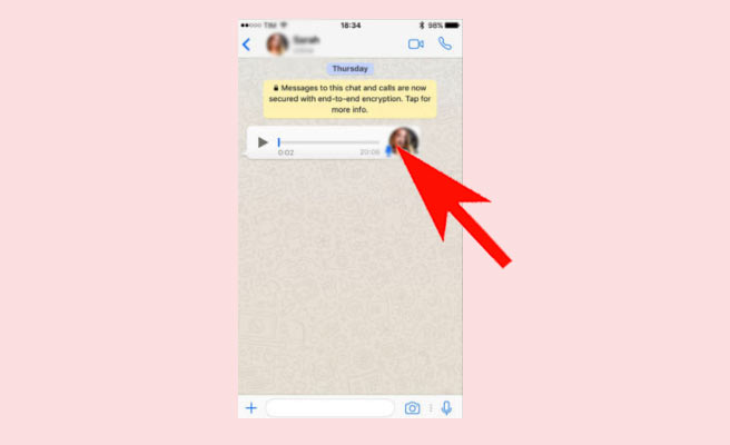 whatsapp voice to text iphone