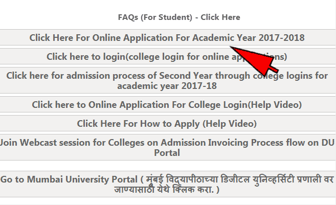 online admission mumbai university