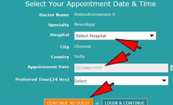 apollo hospital chennai appointment